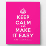 [Crown] keep calm and make it easy  Plaques