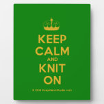 [Knitting crown] keep calm and knit on  Plaques