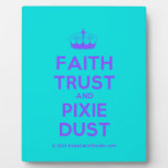 [Knitting crown] faith trust and pixie dust  Plaques