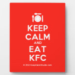 [Cutlery and plate] keep calm and eat kfc  Plaques