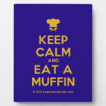 [Chef hat] keep calm and eat a muffin  Plaques