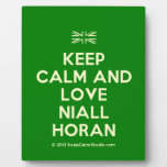 [UK Flag] keep calm and love niall horan  Plaques