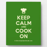 [Chef hat] keep calm and cook on  Plaques