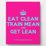 [Crown] eat clean train mean and get lean  Plaques