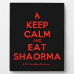 [Campfire] keep calm and eat shaorma  Plaques