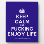 [Crown] keep calm and fucking enjoy life  Plaques