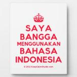 [Crown] saya bangga menggunakan bahasa indonesia  Plaques