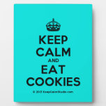[Crown] keep calm and eat cookies  Plaques
