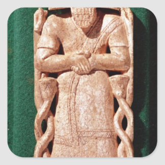 Plaquette de marfil de dios pegatina cuadrada