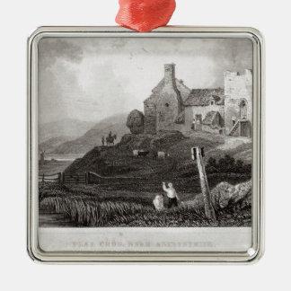 Plas Crug, cerca de Aberystwyth, Cardiganshire Adorno Navideño Cuadrado De Metal
