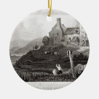 Plas Crug, cerca de Aberystwyth, Cardiganshire Adorno Navideño Redondo De Cerámica