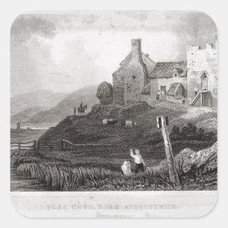 Plas Crug, cerca de Aberystwyth, Cardiganshire Pegatina Cuadrada