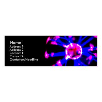 Plasma ball business card 2