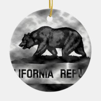 Plasma California Flag Ceramic Ornament