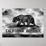 Plasma de la bandera de la república de California Posters