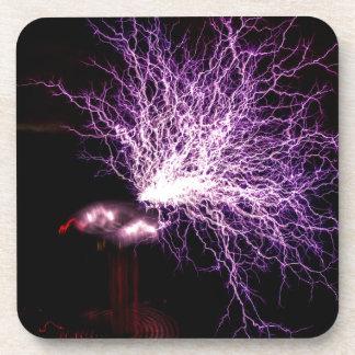 Plasma de la bobina de Tesla Posavasos De Bebidas