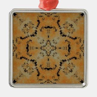 Plasma Fractal  27 Metal Ornament