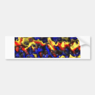plasma fractal pattern bumper sticker