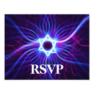 Plasma Magen Bar/Bat Mitzvah RSVP Card