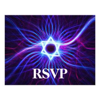 Plasma Magen Bar Bat Mitzvah RSVP Personalized Invitations