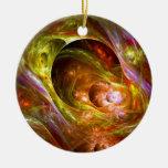 Plasma Paradise Double-Sided Ceramic Round Christmas Ornament