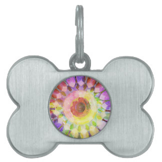 Plasma Pink Cast Kaleidoscope Barely There Pet ID Tag