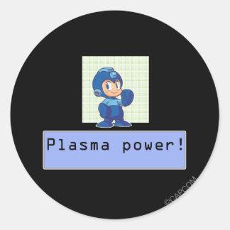 Plasma Power! Classic Round Sticker