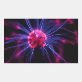 Plasma Rectangular Sticker