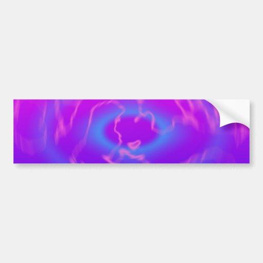 Plasma Swirl: Abstract Artwork: Bumper Sticker