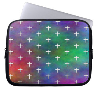 Plasma with White Cross Polka Dots Laptop Computer Sleeves