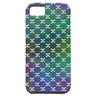 Plasma with White Skull and Crossbones Polka Dot iPhone SE/5/5s Case