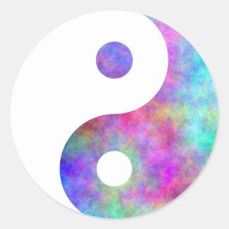 Plasma Yin Yang Pegatinas Redondas
