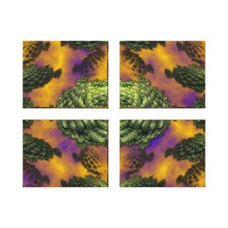 Plasmic Brocoli Gallery Wrapped Canvas