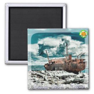 Plassey Wreck 2 Inch Square Magnet
