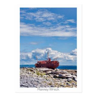 Plassey Wreck Postcard