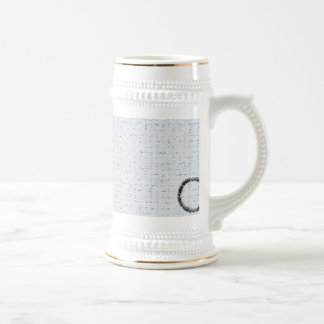 Plaster and coal beer stein