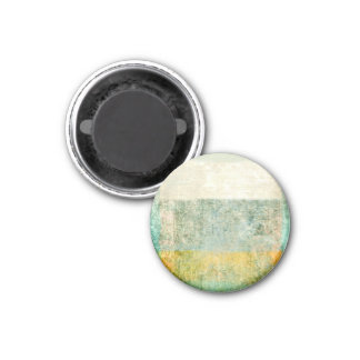 Plaster Antique Paper Template 1 Inch Round Magnet