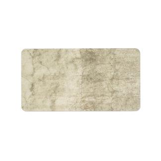 Plaster Antique Paper Template Blank neutral Label