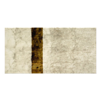 Plaster Antique Paper Template Blank neutral Personalized Photo Card