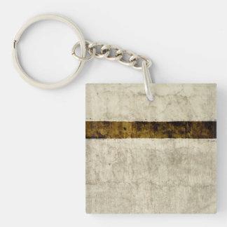 Plaster Antique Paper Template Blank neutral, retr Keychain