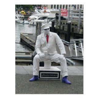 Plaster Man Postcard