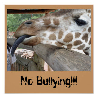 Plaster No Bullying Giraffe Poster