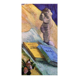 Plaster Statuette, a Rose and Novels - van Gogh Card
