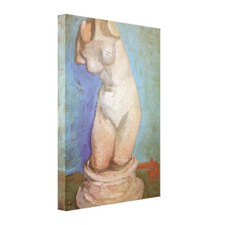 Plaster Statuette Female Torso by Vincent van Gogh Canvas Print