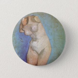 Plaster Statuette Female Torso by Vincent van Gogh Pinback Button