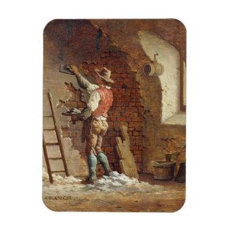 Plasterer, c.1807 (oil on panel) rectangular photo magnet