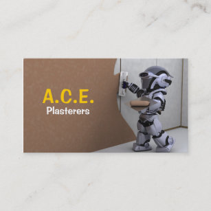 Plaster business cards templates zazzle plasterers business card friedricerecipe Choice Image