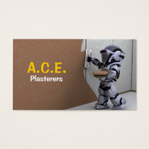 Plaster business cards templates zazzle plasterers business card accmission Images