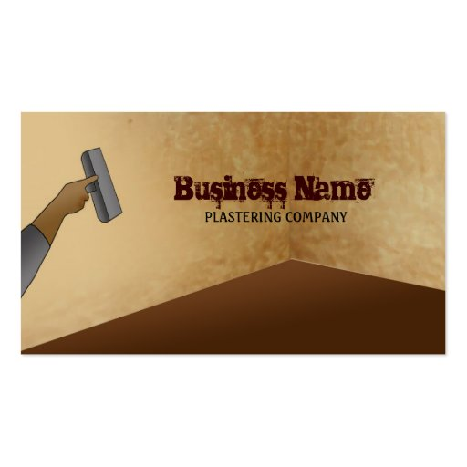 Plastering business card templates bizcardstudio plastering business cards friedricerecipe Image collections
