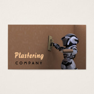 Plaster business cards templates zazzle plastering company business card accmission Images